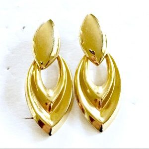 Door Knocker Earrings Gold Vintage